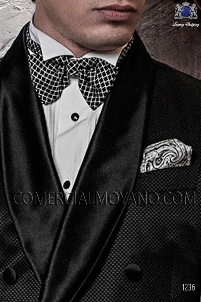 Black silk cummerbund & bow tie 57511-9000-8096 Ottavio Nuccio Gala.