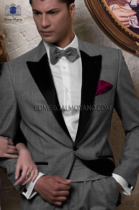 Black-white silk cummerbund & bow tie 57521-9000-8099 Ottavio Nuccio Gala.