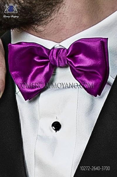 Purple satin bow tie 10272-2640-3700 Ottavio Nuccio Gala.