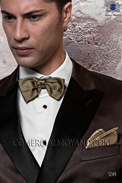 Gold cummerbund and bow tie set 57521-2887-2000 Ottavio Nuccio Gala.