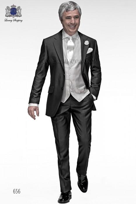 Italian bespoke gray antracite wedding suit 656 Ottavio Nuccio Gala.