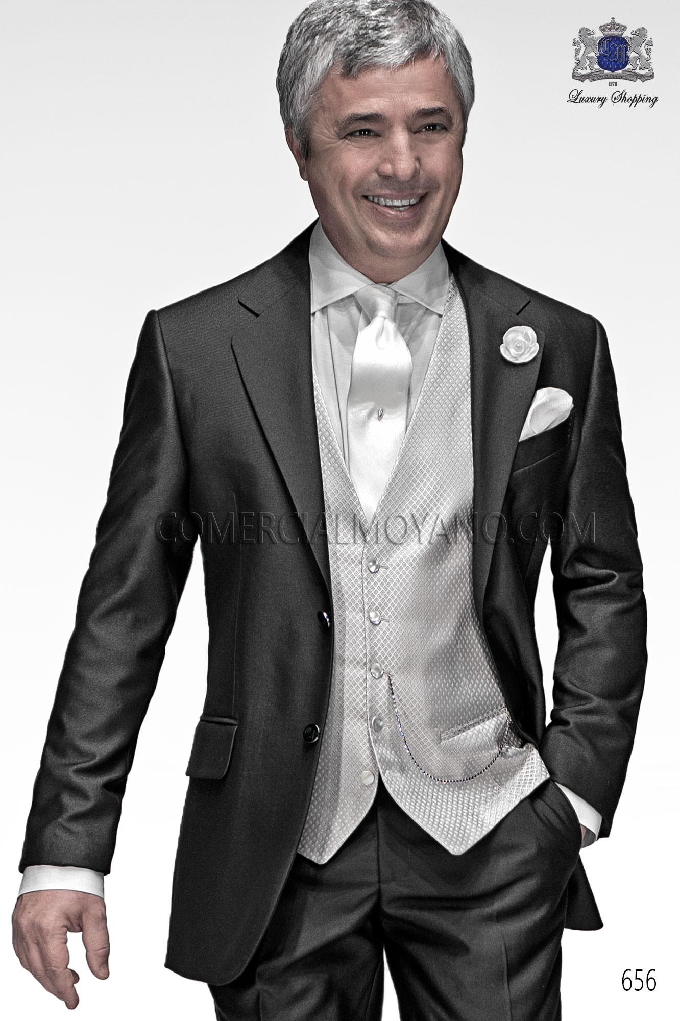Traje Gentleman de novio gris modelo: 656 Ottavio Nuccio Gala colección Gentleman