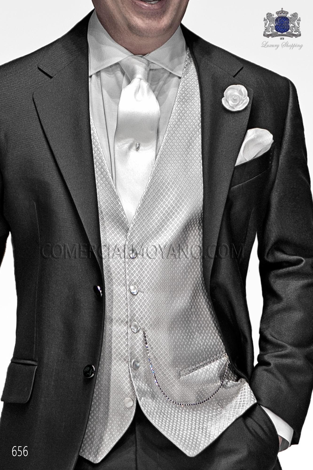 Italian gentleman gray antracite men wedding suit, model: 656 Ottavio Nuccio Gala Gentleman Collection