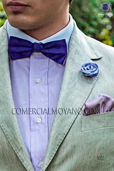 Purple jacquard silk bow tie 10272-9000-3798 Ottavio Nuccio Gala.