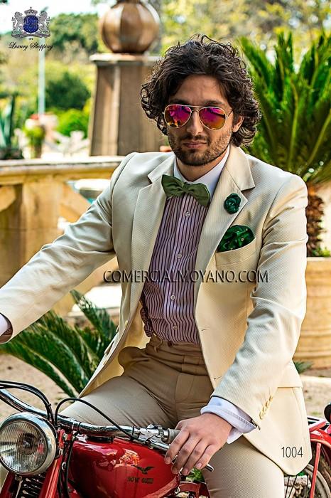 Green jacquard silk bow tie 10272-9000-4094 Ottavio Nuccio Gala.