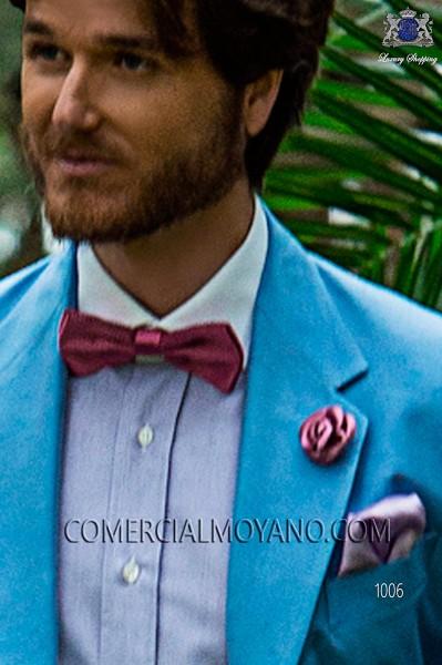 Fuchsia jacquard silk bow tie 10272-9000-3894 Ottavio Nuccio Gala.