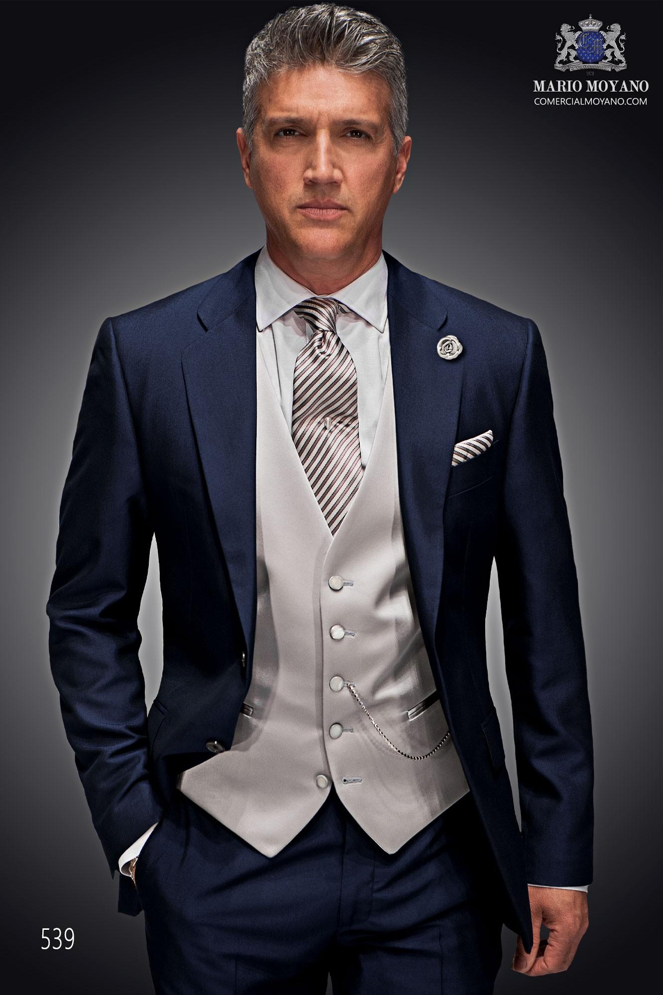 Traje de novio italiano azul modelo: 539 Ottavio Nuccio Gala colección Gentleman