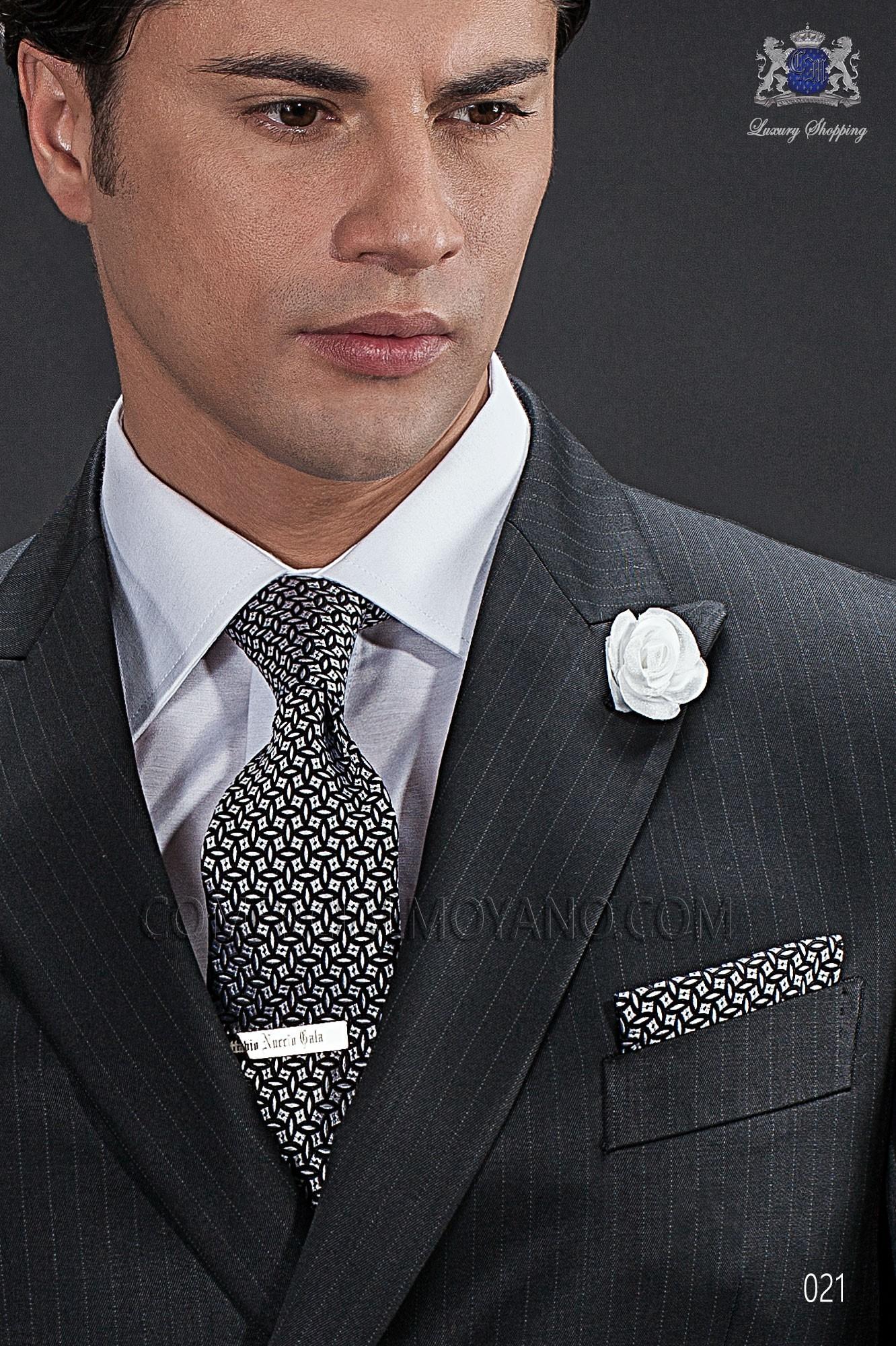 Traje Gentleman de novio negro modelo: 021 Ottavio Nuccio Gala colección Gentleman 2017