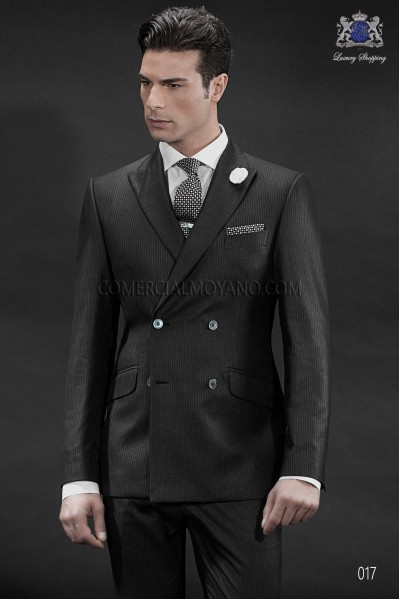 Italian gentleman black men wedding suit style 017 Ottavio Nuccio Gala