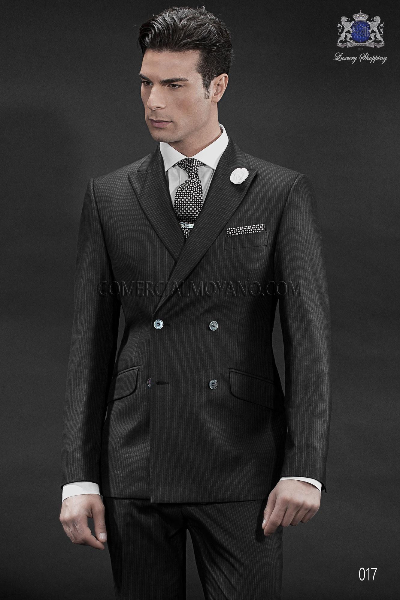 Traje de novio italiano negro modelo: 017 Ottavio Nuccio Gala colección Gentleman