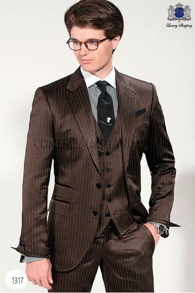 Italian gentleman brown men wedding suit style 1317 Ottavio Nuccio Gala