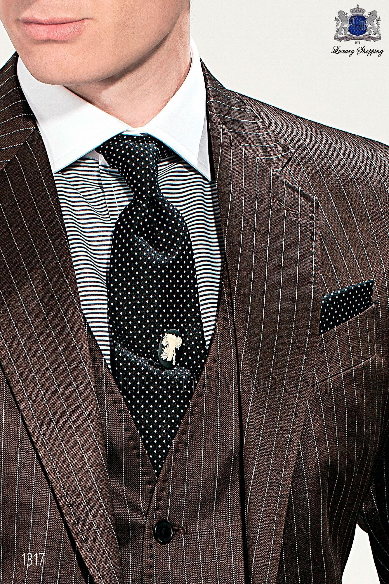 Italian gentleman brown men wedding suit, model: 1317 Mario Moyano Gentleman Collection