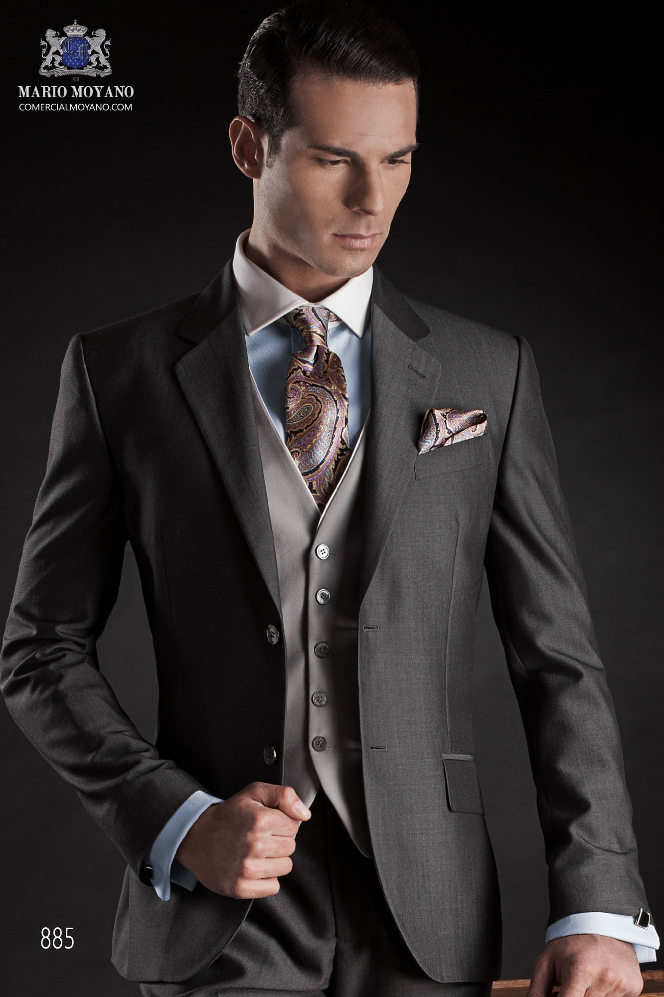 Gentleman grey men wedding suit model 885 Ottavio Nuccio Gala