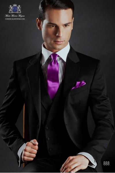 Traje de novio italiano de lana negro 888 Ottavio Nuccio Gala
