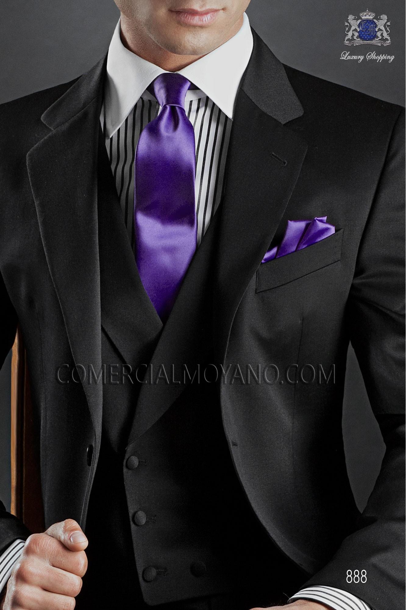 Traje Gentleman de novio negro modelo: 888 Ottavio Nuccio Gala colección Gentleman
