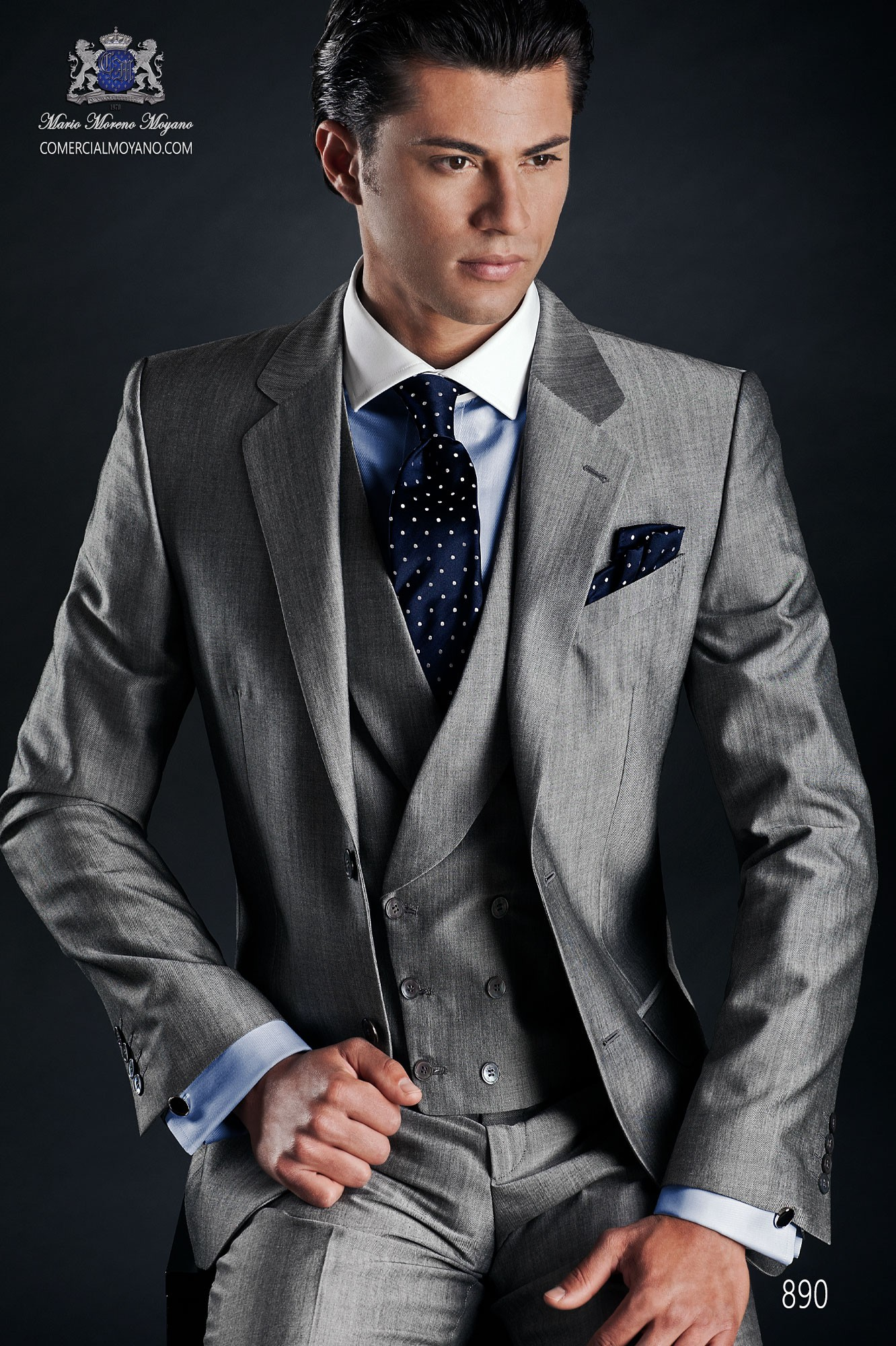 Gentleman grey men wedding suit model 890 Ottavio Nuccio Gala