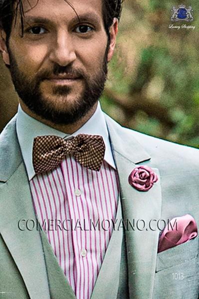 Pink jacquard silk bow tie 10272-9000-3897 Ottavio Nuccio Gala.