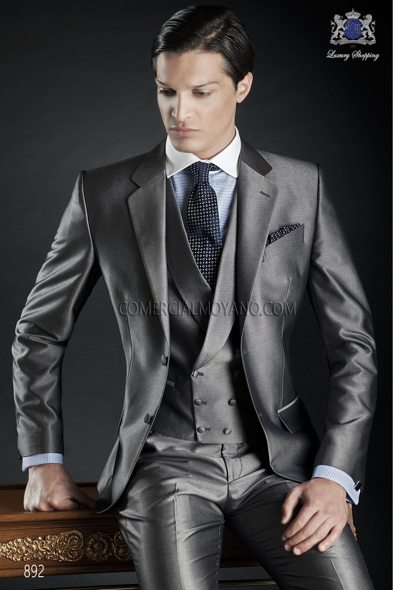 Gentleman pearl gray men wedding suit model 892 Ottavio Nuccio Gala