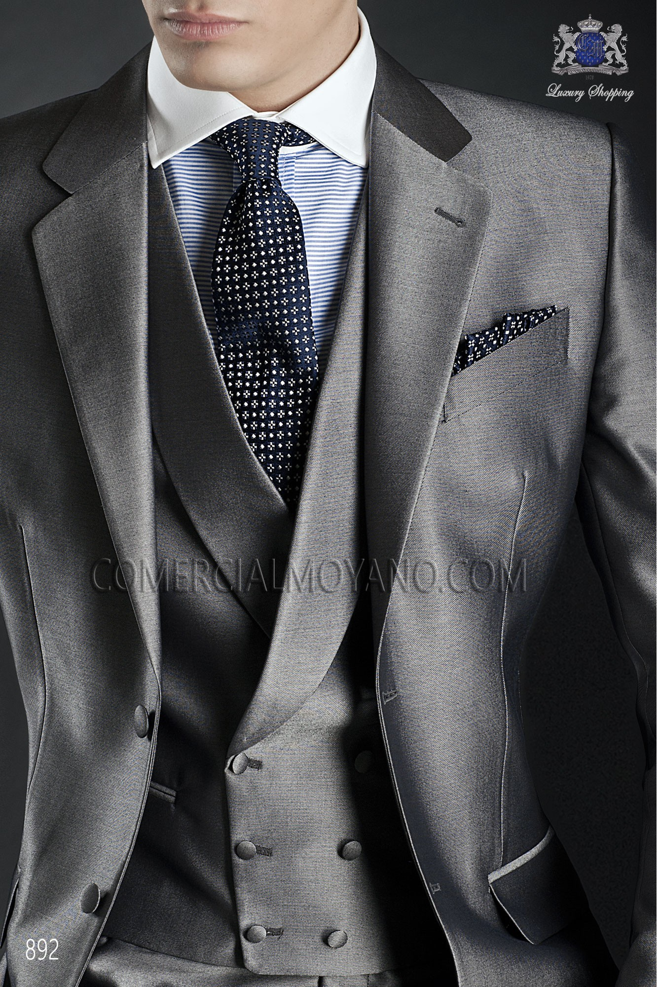 Traje Gentleman de novio gris modelo: 892 Ottavio Nuccio Gala colección Gentleman