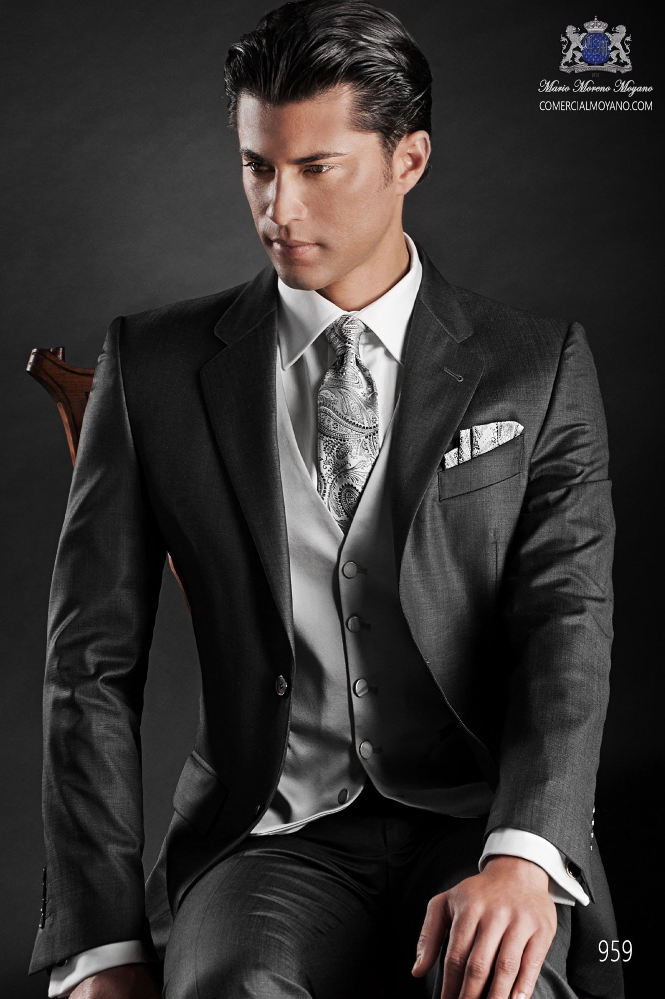 Gentleman gray men wedding suit model 959 Ottavio Nuccio Gala