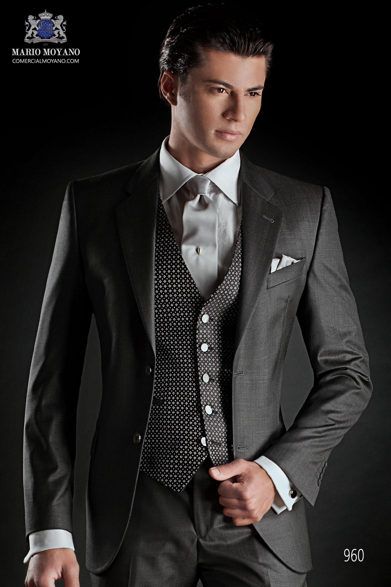 Traje de novio italiano gris modelo: 960 Ottavio Nuccio Gala colección Gentleman