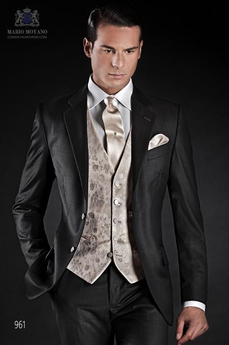 Italian gray wedding suit