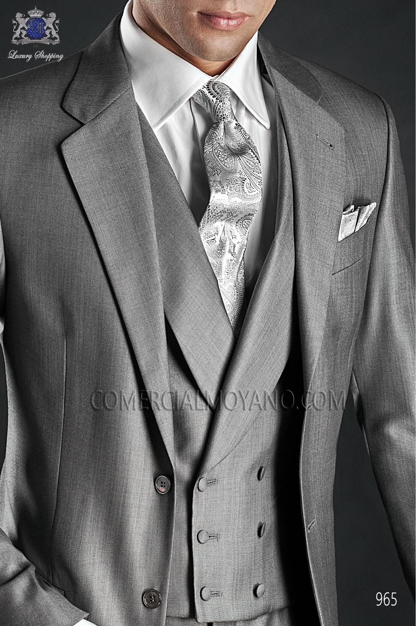 Traje Gentleman de novio gris modelo: 965 Ottavio Nuccio Gala colección Gentleman 2017