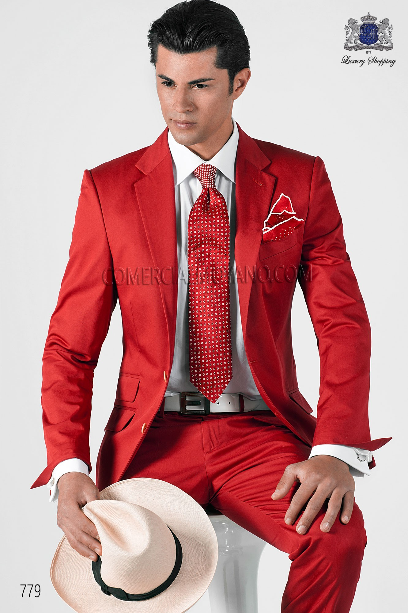 Traje de novio Hipster rojo modelo: 779 Ottavio Nuccio Gala colección Hipster