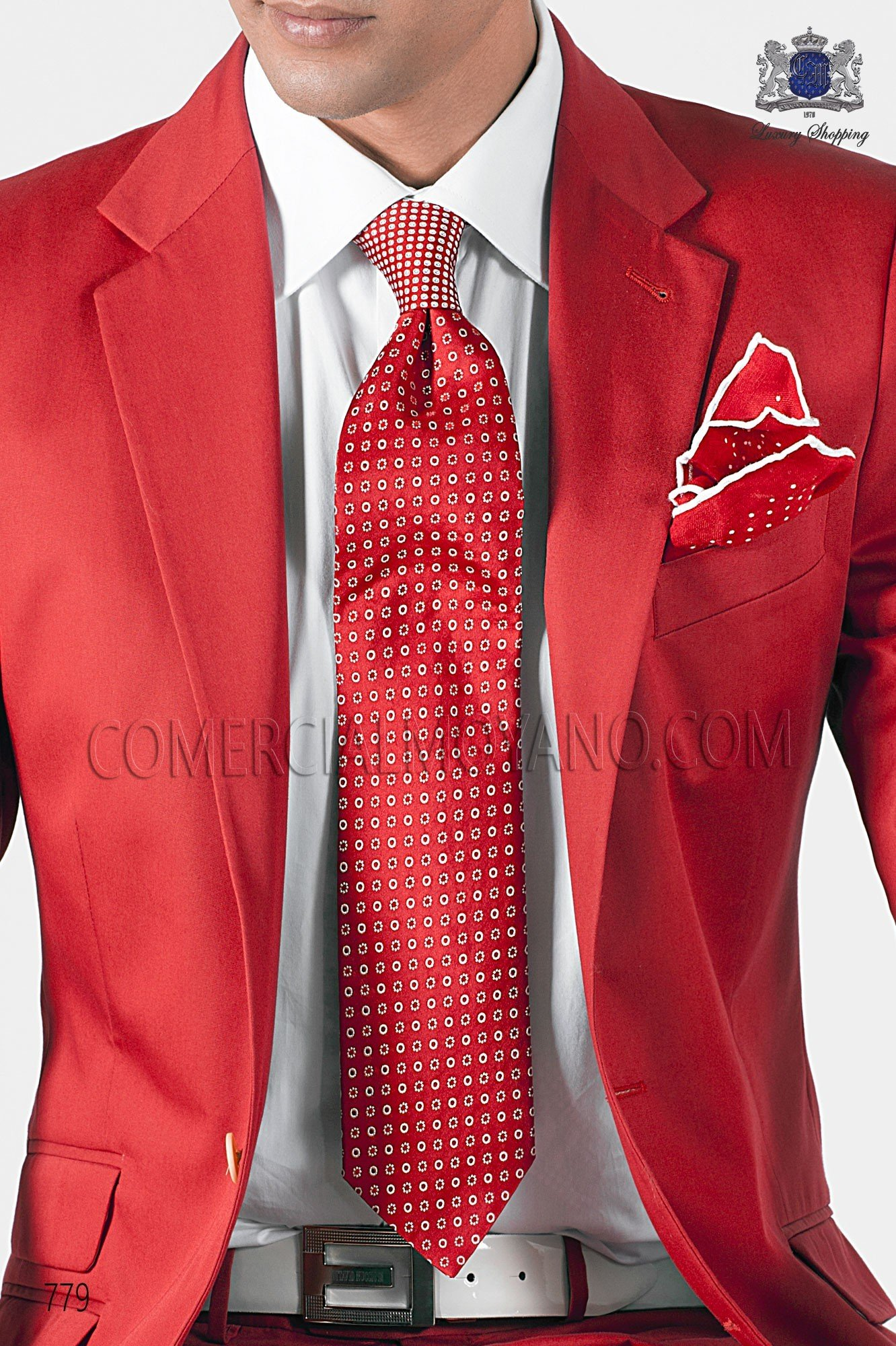 Italian hipster red men wedding suit, model: 779 Ottavio Nuccio Gala 2017 Hipster Collection