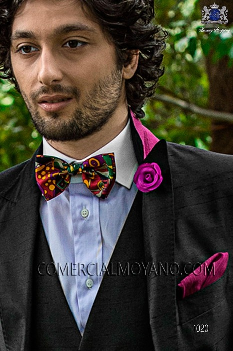 Multi-coloured silk designer bow tie 10272-4068-3100 Ottavio Nuccio Gala.