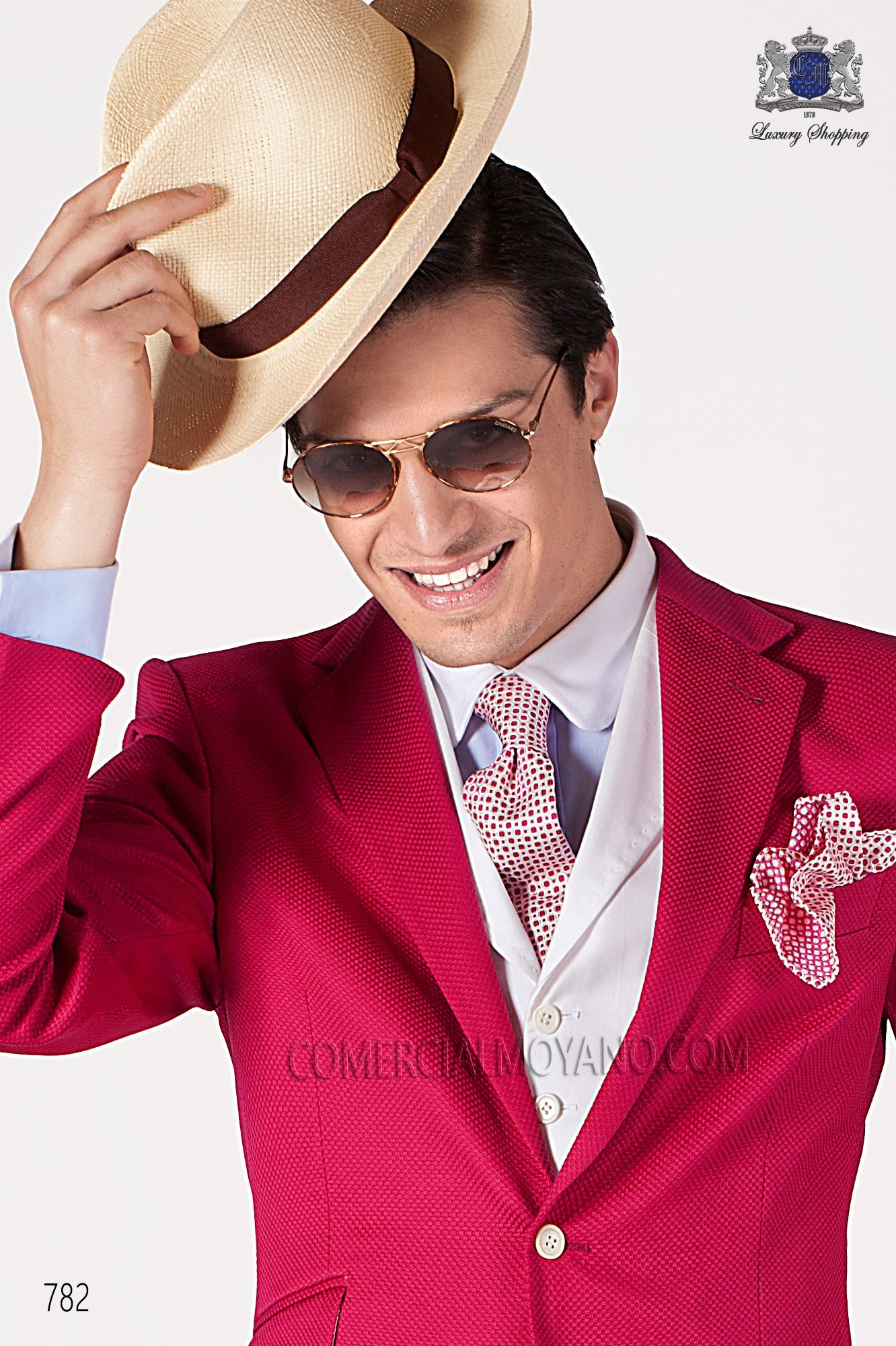 Italian hipster fuchsia men wedding suit, model: 782 Ottavio Nuccio Gala Hipster Collection