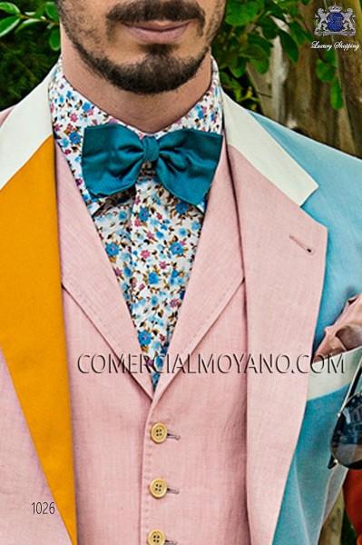Sky blue bow tie in jacquard silk fabric 10272-9000-5596 Ottavio Nuccio Gala.