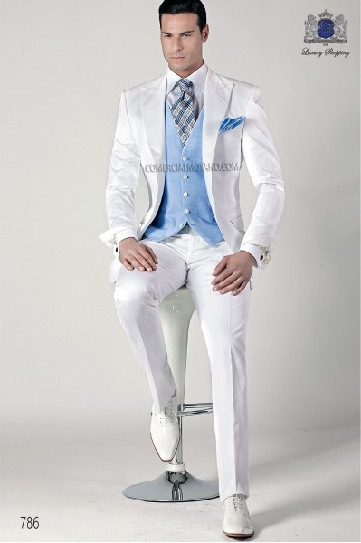 White italian fashion suit