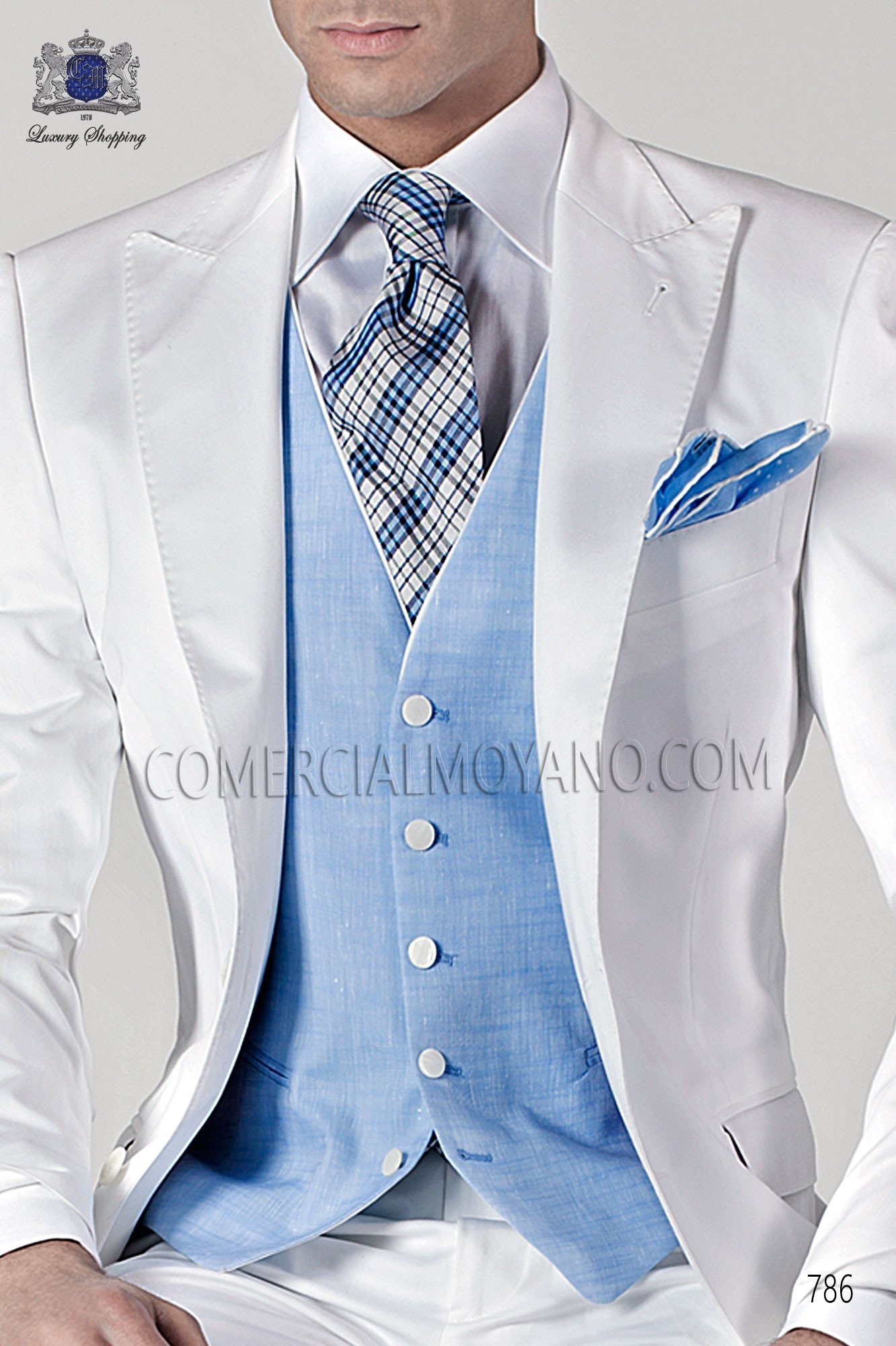 Italian hipster white men wedding suit, model: 786 Ottavio Nuccio Gala Hipster Collection
