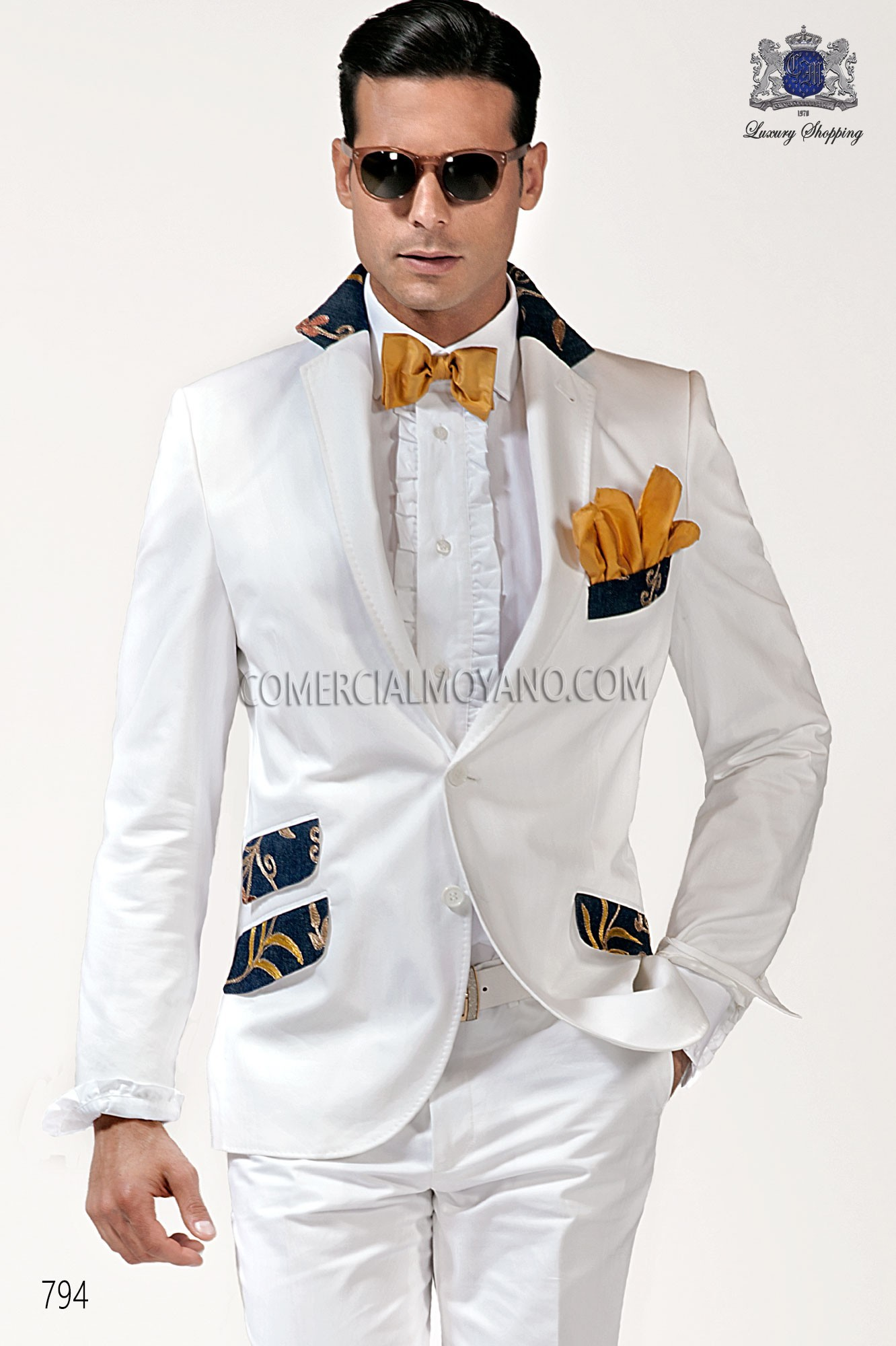 Hipster white men wedding suit model 794 Ottavio Nuccio Gala