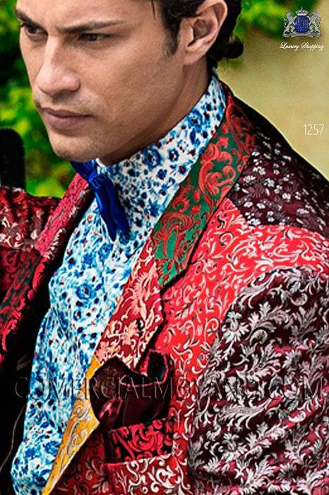 Electric blue satin bow tie 10272-2640-5300 Ottavio Nuccio Gala.
