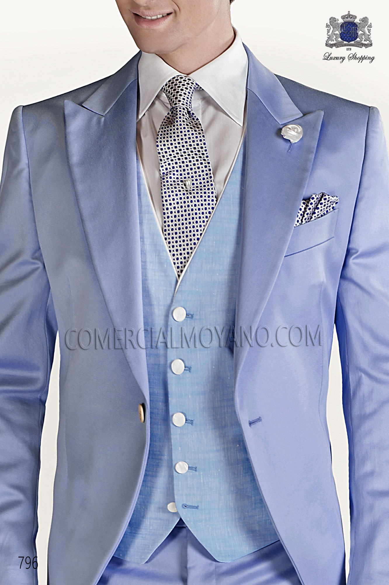 Hipster blue men wedding suit, model: 796 Ottavio Nuccio Gala Collection