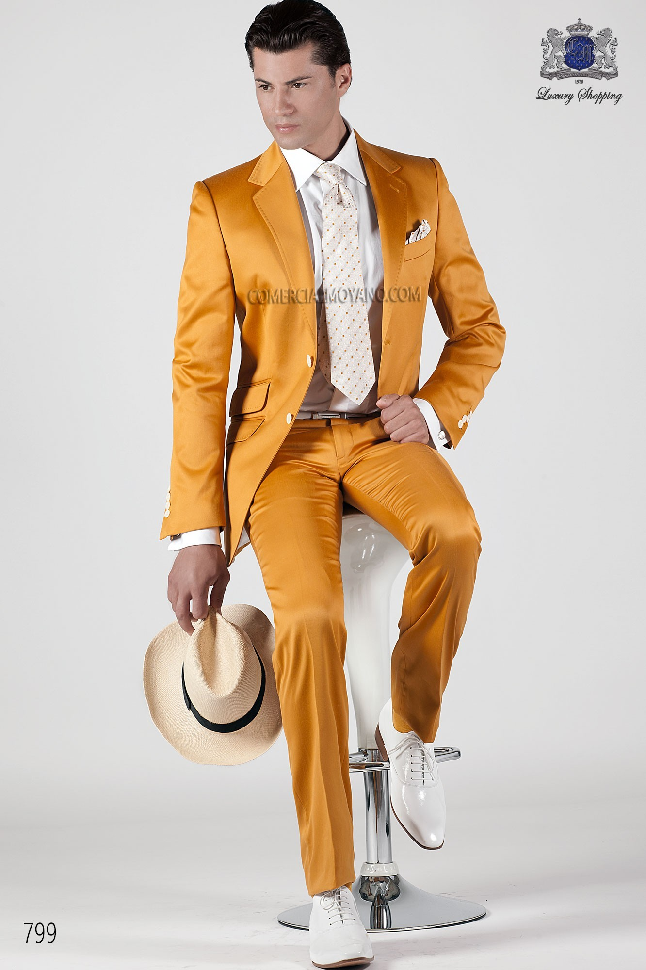 Hipster gold men wedding suit model 799 Ottavio Nuccio Gala