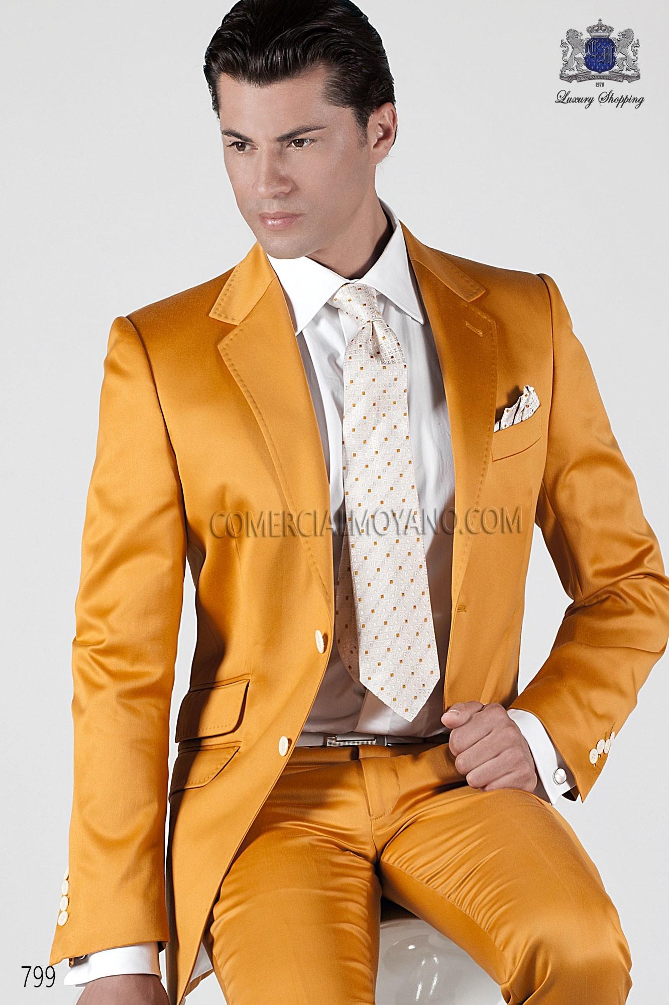 Traje Hipster de novio dorado modelo: 799 Ottavio Nuccio Gala colección Hipster