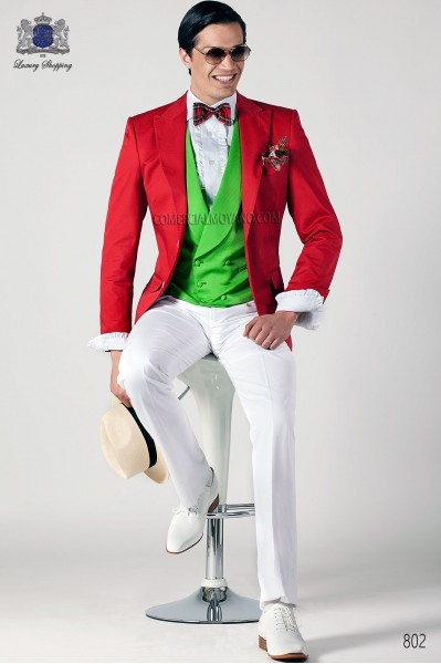Italian hipster red men wedding suit style 802 Ottavio Nuccio Gala