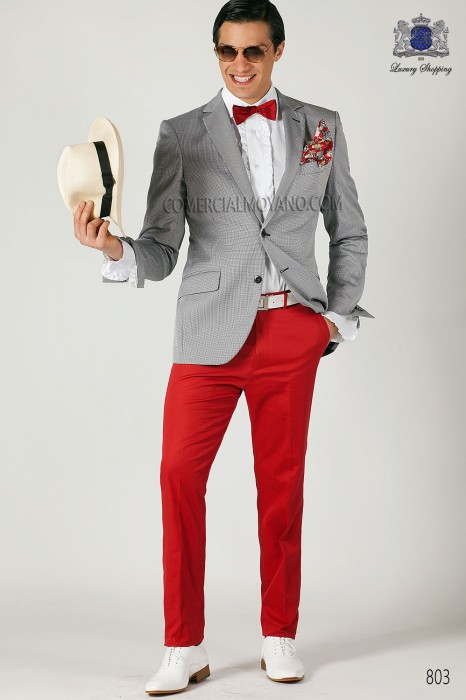 Black houndstooth fashion men suit
