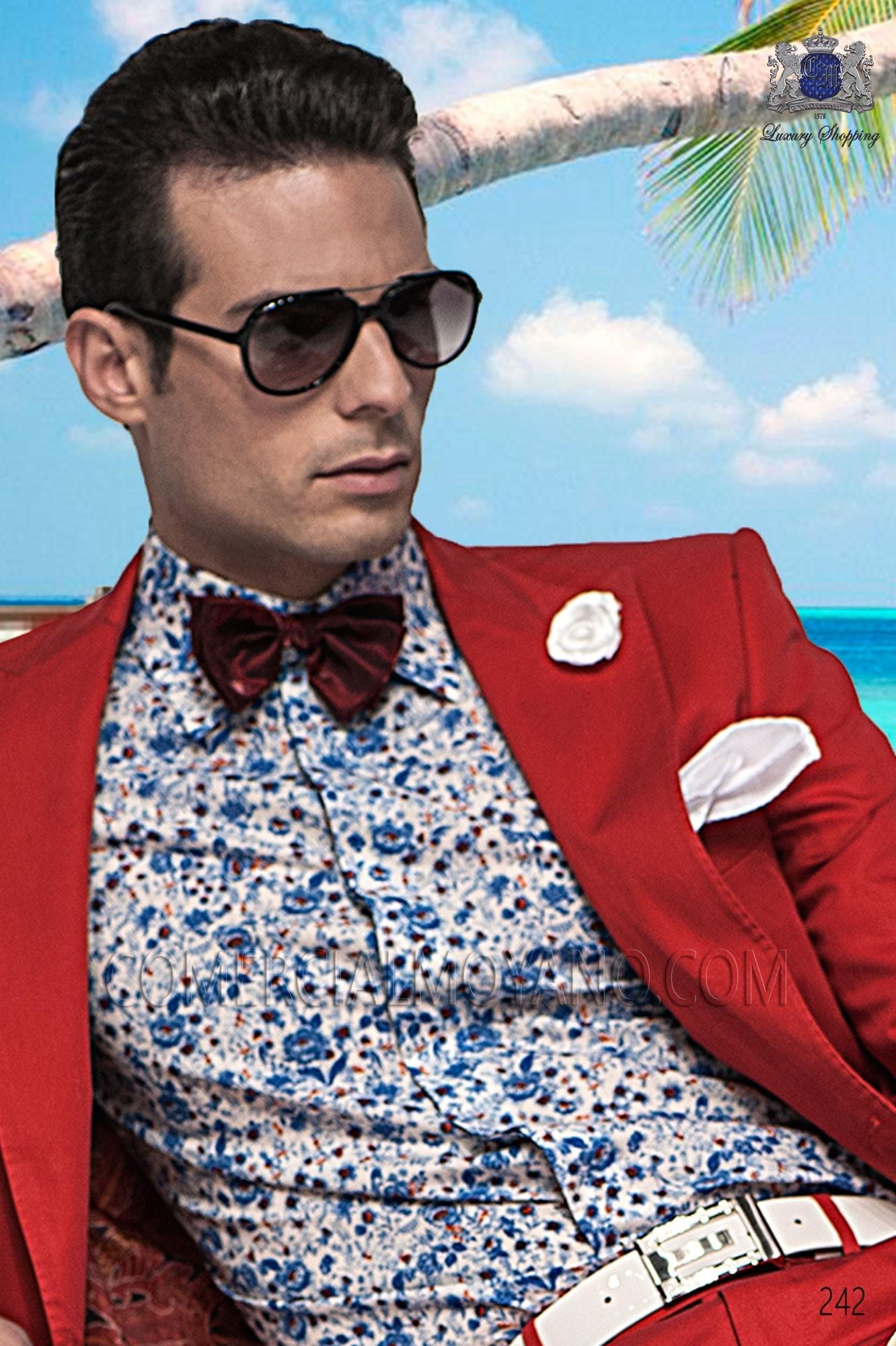 Traje Hipster de novio rojo modelo: 242 Ottavio Nuccio Gala colección Hipster