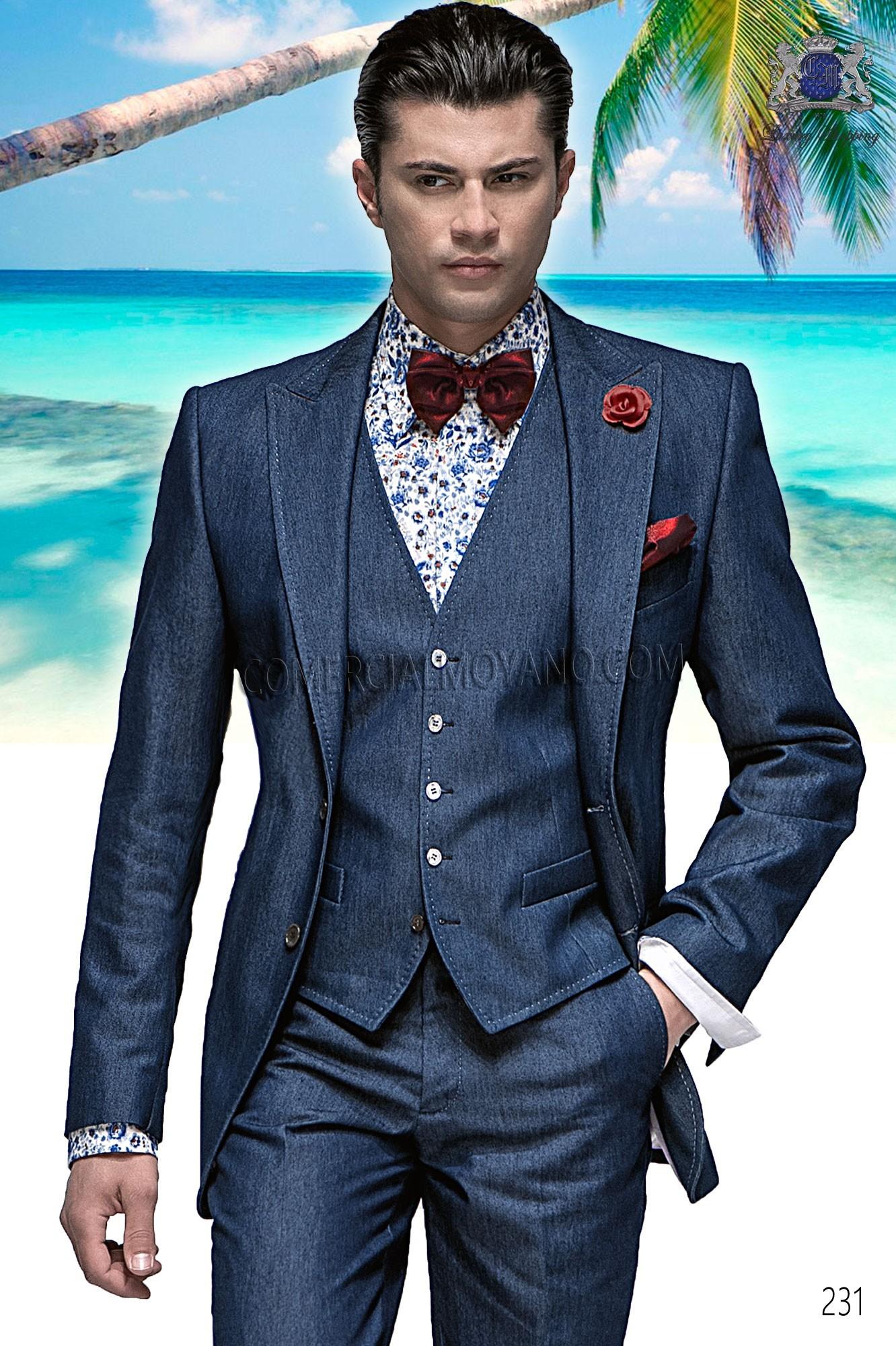 Traje Hipster de novio azul modelo: 231 Ottavio Nuccio Gala colección Hipster