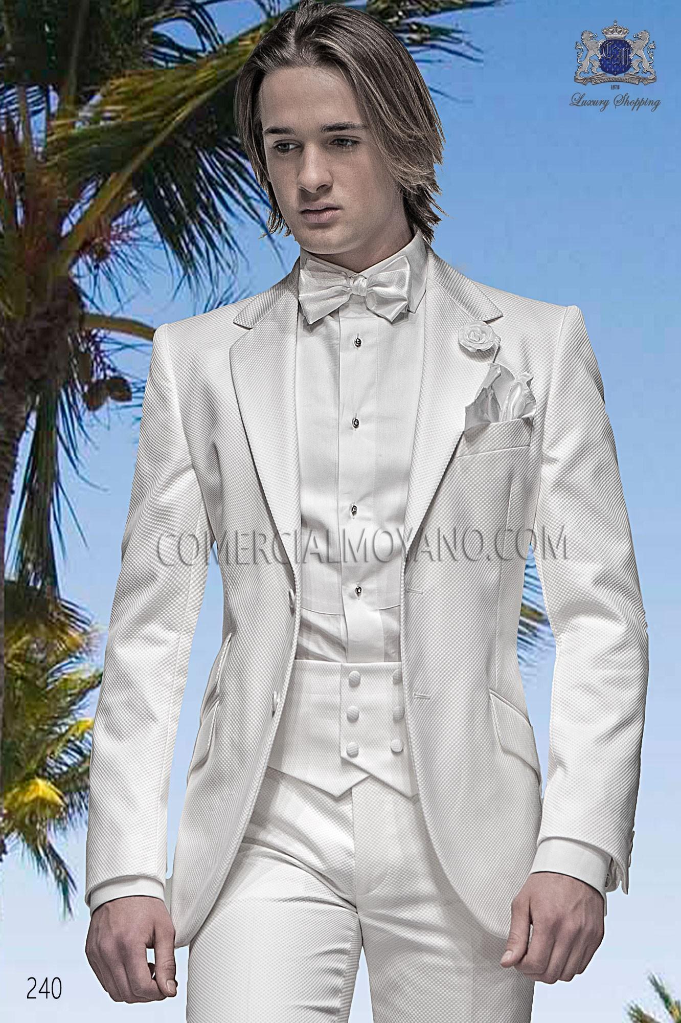 Traje Hipster de novio blanco modelo: 240 Ottavio Nuccio Gala colección Hipster