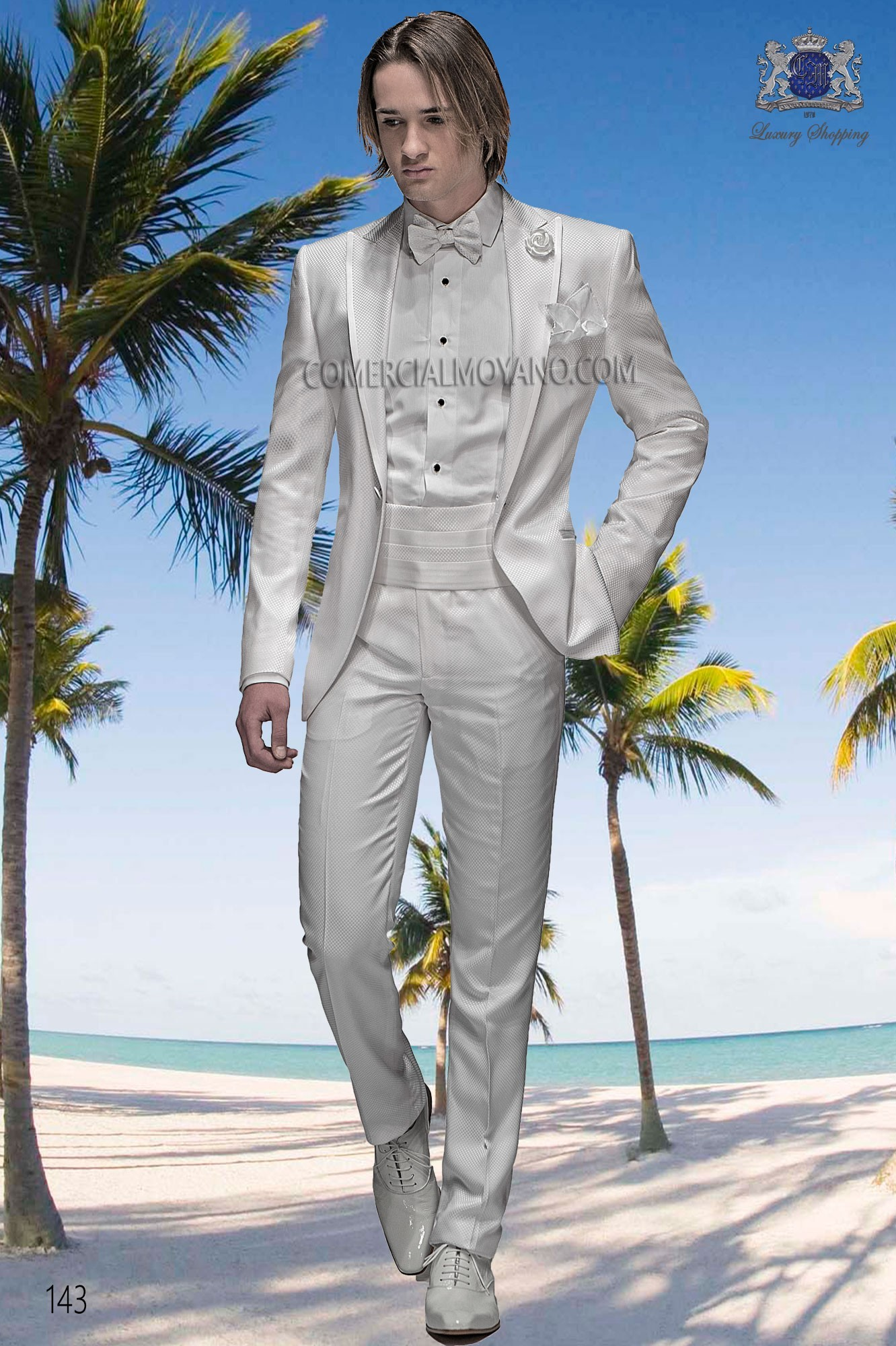 Hipster white men wedding suit model 143 Ottavio Nuccio Gala