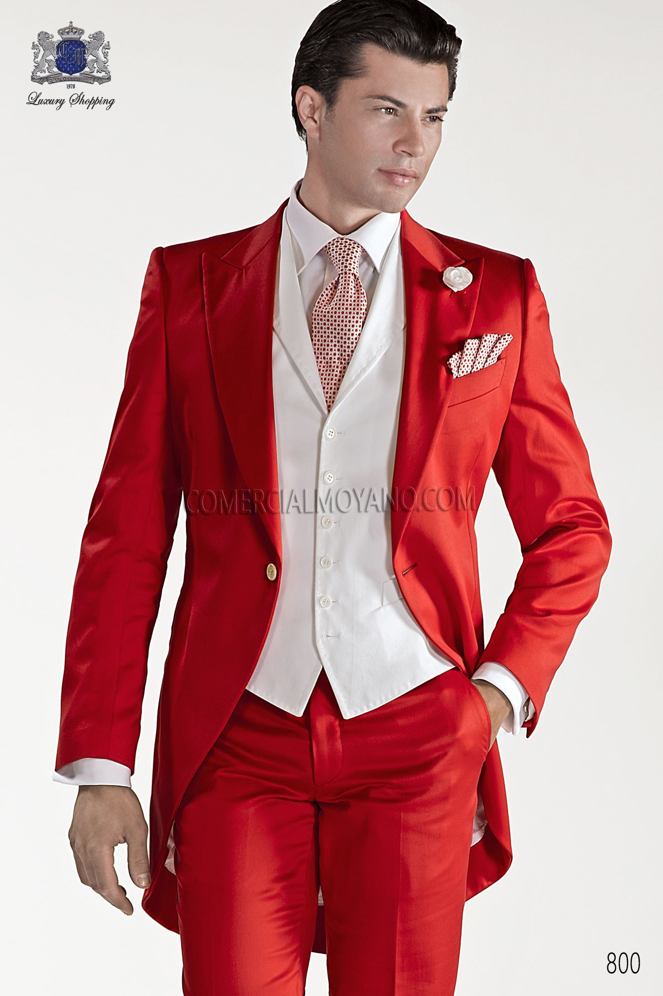 Traje Hipster de novio rojo modelo: 800 Ottavio Nuccio Gala colección Hipster 2017
