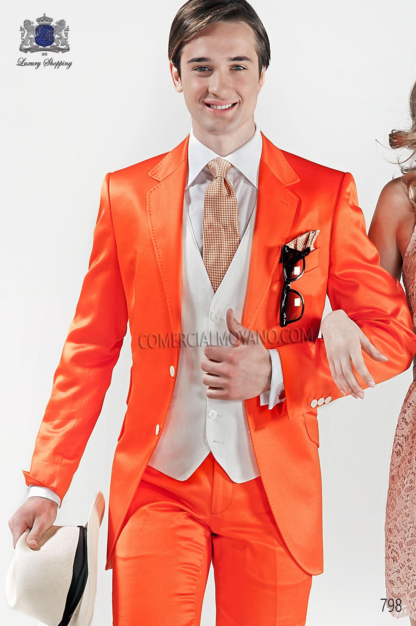 Traje Hipster de novio naranja modelo: 798 Ottavio Nuccio Gala colección Hipster 2017