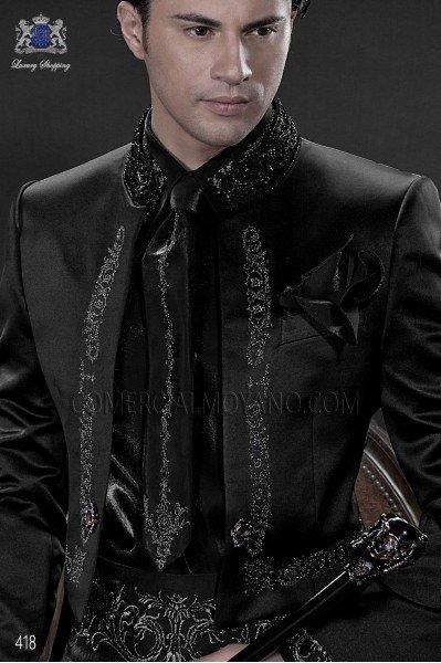 Camisa y accesorios negra en lurex