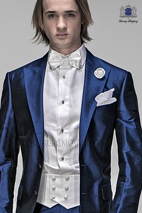 White ottoman bib shirt