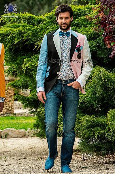 Traje de novio italiano azul modelo 1027 Ottavio Nuccio Gala colección Hipster 2017
